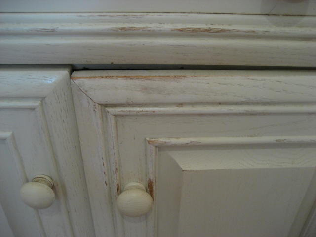 Kitchen cabinet doors with extreme wear and tear