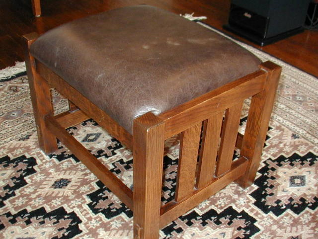 Stickley footstool after repair
