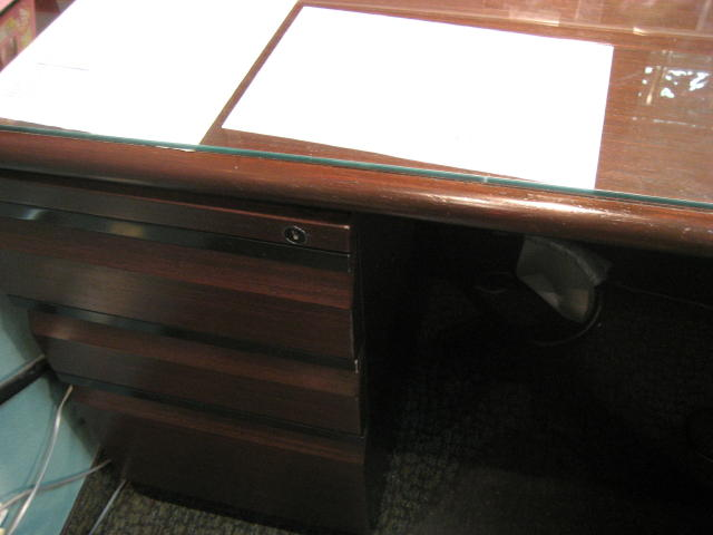 Office furniture after repair without refinishing