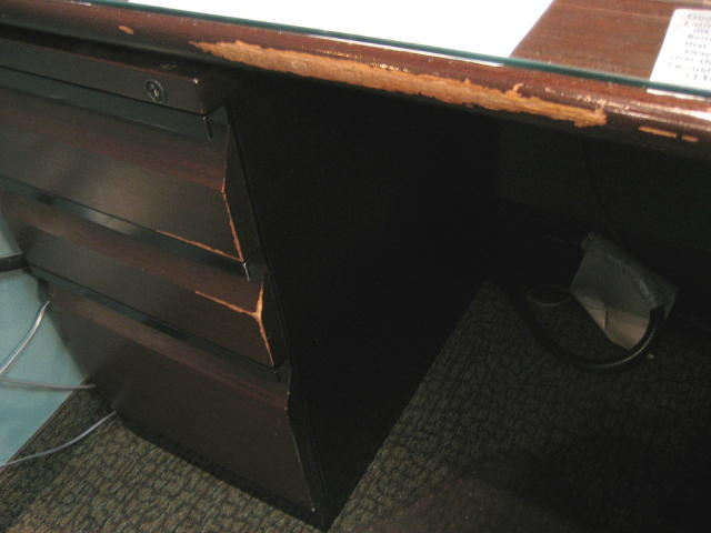 Office furniture with extreme damage