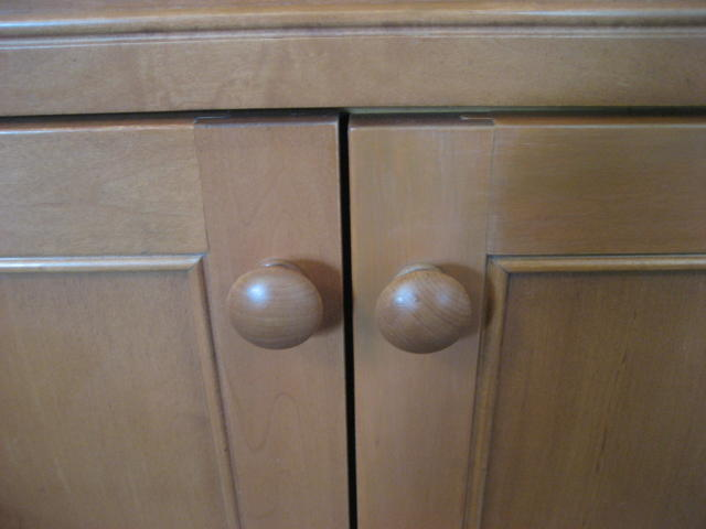 Kitchen cabinet doors after restoration